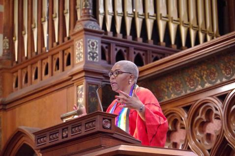 Traci Blackmon preaching at Old South Church